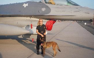 OFFICIAL EXPLOSIVE DETECTION  K-9 UNIT FOR THE NEW YORK AIR SHOW  GRUMMAN AIR PARK, CALVERTON, NEW YORK
